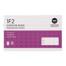WS Exercise Book 1F2 12mm 24 Leaf Purple