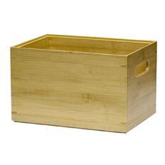 Living & Co Bamboo Storage Box Deep Natural