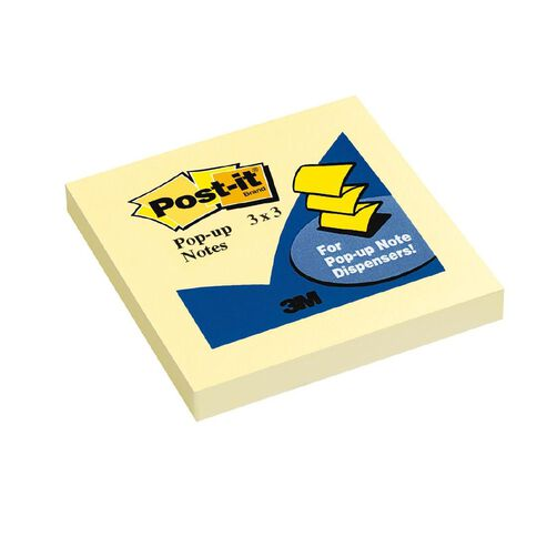 Post-It Pop-Up Notes 76mm x 76mm Canary Yellow