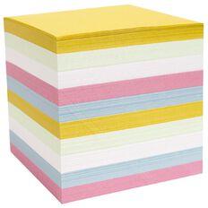 WS Memo Cube Refill Full Size Pastel Colour