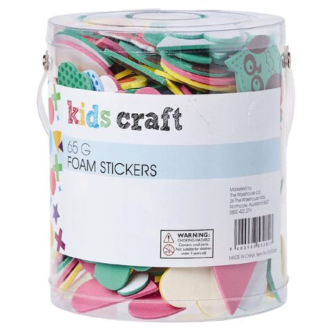 Kookie Foam Stickers Multi-Coloured 65g