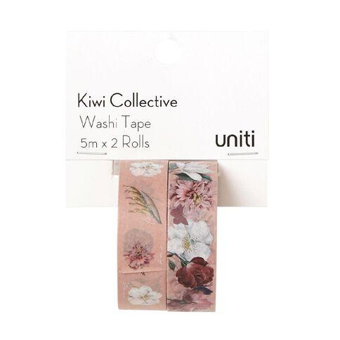 Uniti Kiwi Collective Washi Tape 2 Pack Pink