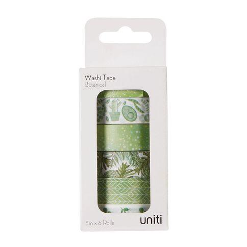 Uniti Washi Tape 6 Pack Botanical