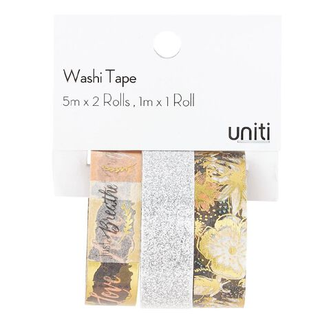Uniti Washi Tape Blush/Silver 3 Pack