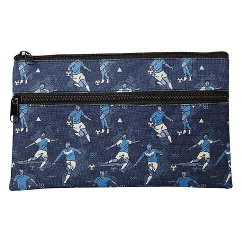 WS 2 Pockets Pencil Case Sports