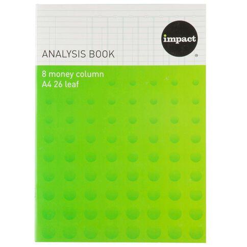 Impact Analysis Book 8 Column Blue A4