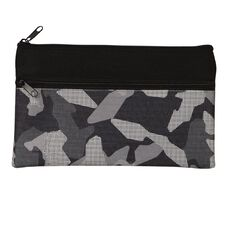 WS Pencil Case Flat 2 Zip Camo