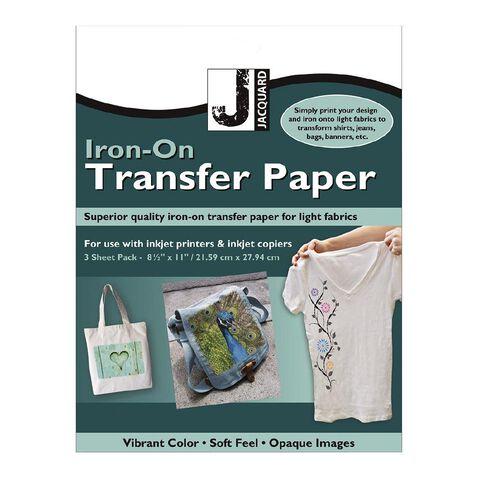 Jacquard Iron-On Transfer Paper 3 Pack