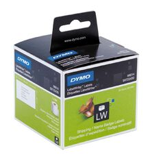 Dymo Label Tape Name Badge/Ship 101mm x 54mm White