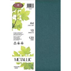 Direct Paper Metallic Paper 120gsm 10 Pack Malachite A4