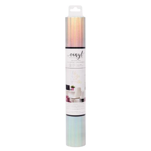 American Crafts Vinyl Holographic Adhesive Roll 12in x 48in