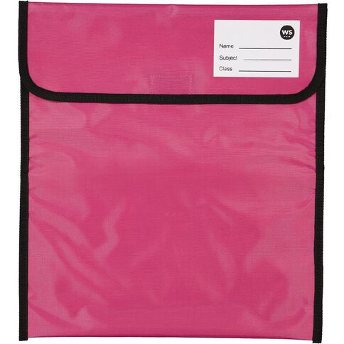WS Book Bag Zipper Pocket 36cm x 33cm Pink