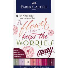 Faber-Castell Pitt Artist Hand Lettering Pens Flower A Day 8 Pack