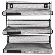 WS Mesh 3 Tier Shelf Black
