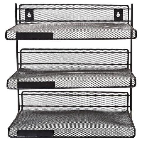 WS Mesh 3 Tier Shelf Black
