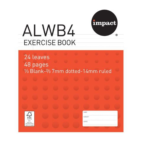 Impact Exercise Book ALWB4 Ruled 24 Leaf