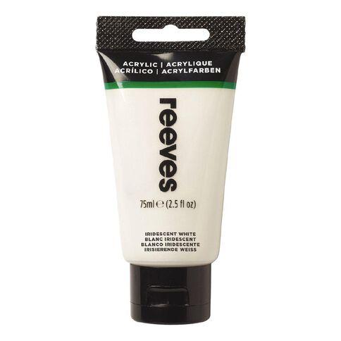 Reeves Fine Acrylic Iridescent White 714 75ml White 75ml