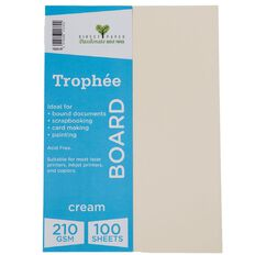 Trophee Board 210gsm 100 Pack Cream A4