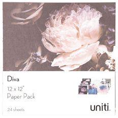 Uniti Diva Paper Pack 12in x 12in