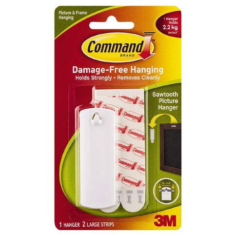 Command Sawtooth Picture Hook White