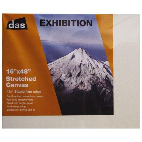 DAS 1.5 Exhibition Canvas 16 x 48in White