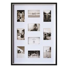 Uniti Two Tone Collage Box Frame Black 50 x 70cm Black