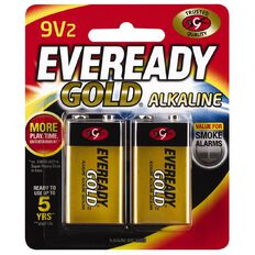 Eveready Gold Batteries 9 Volt 2 Pack
