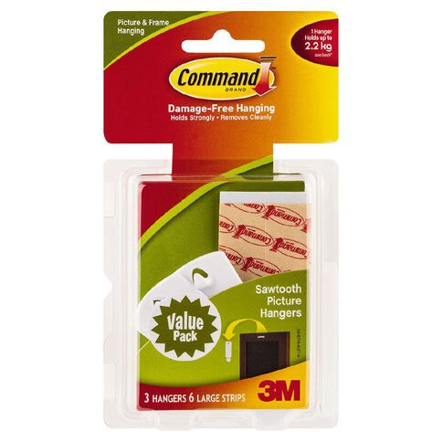 Command Sawtooth Picture Hanging Hooks 17042 Value Pack White