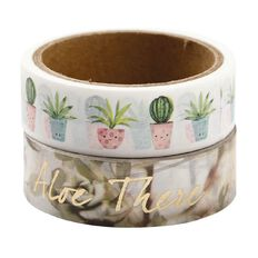 Uniti Plant Lady Washi Tape 2 Pack Plant Party