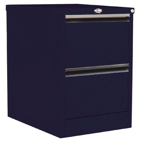 Precision Classic Filing Cabinet 2 Drawer Midnight Blue