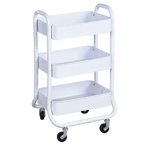 Workspace 3 Tier Trolley White