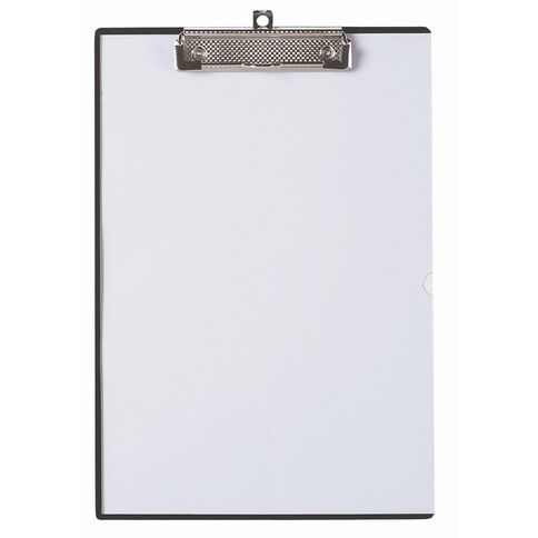Marbig Clipboard Clearview Insert Black A4