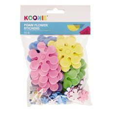 Kookie Foam Stickers Flower Multi-Coloured 12G