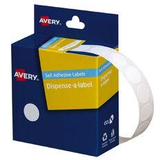 Avery White Dispenser Dot Stickers 14mm dia 1200 Labels Handwritable