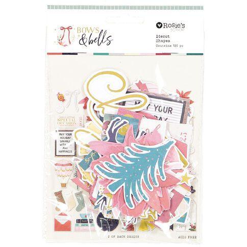 Rosie's Studio Bows & Bells Cardstock Diecuts 152 Pack