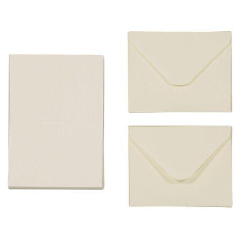 Uniti Mini Cards & Envelopes Ivory 50 Pack