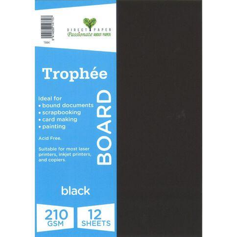 Trophee Board 210gsm 12 Pack Black A4