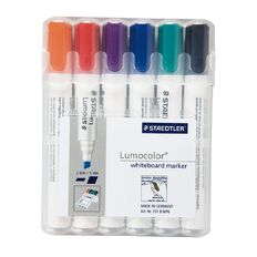 Staedtler Lumocolor Whiteboard Marker Chisel Wallet Of 6
