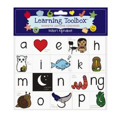 Learning Tool Box Magnetic NZ Maori Alphabet Assorted 40 Pack