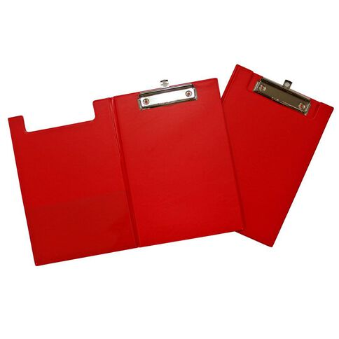 GBP Stationery Pvc Double Clipboard Red A5