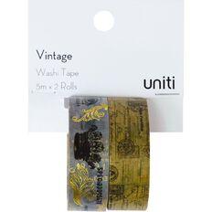 Uniti Washi Tape 2 Pack Vintage Crown