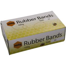 Marbig Rubber Bands 100g Packet #33 Brown