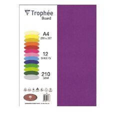 Trophee Board 210gsm 12 Pack Intensive Lilac Purple A4