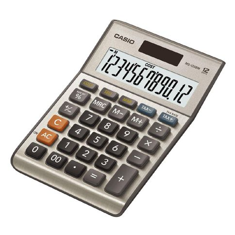 Casio MS120FM 12 Digit Desktop Calculator Grey