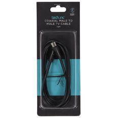Tech.Inc Coaxial Cable Male to Male Plug 1.5m