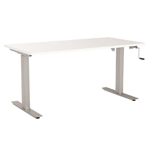 Agile Height Adjustable Desk 1200 White/Silver