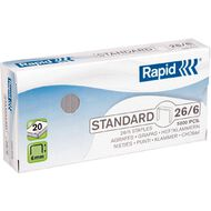 Rapid Staples 26/6 Pack of 5000 Silver