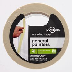 Pomona Masking Tape General Purpose White 24mm x 50m