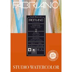 Fabriano Studio Watercolour Pad Hot Pressed 300GSM 12 Sheets A4
