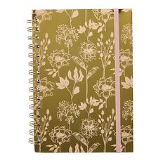 Uniti Secret Garden Softcover Spiral Notebook Gold A5
